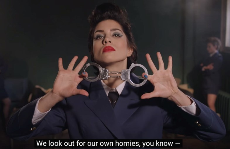 Still from Pussy Riot's video 'Chaika'