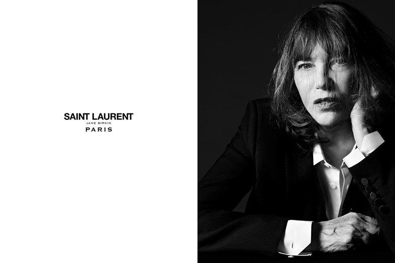 Jane Birkin for Saint Laurent music project Hedi Slimane