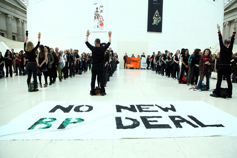Art Not Oil perform in the British Museum