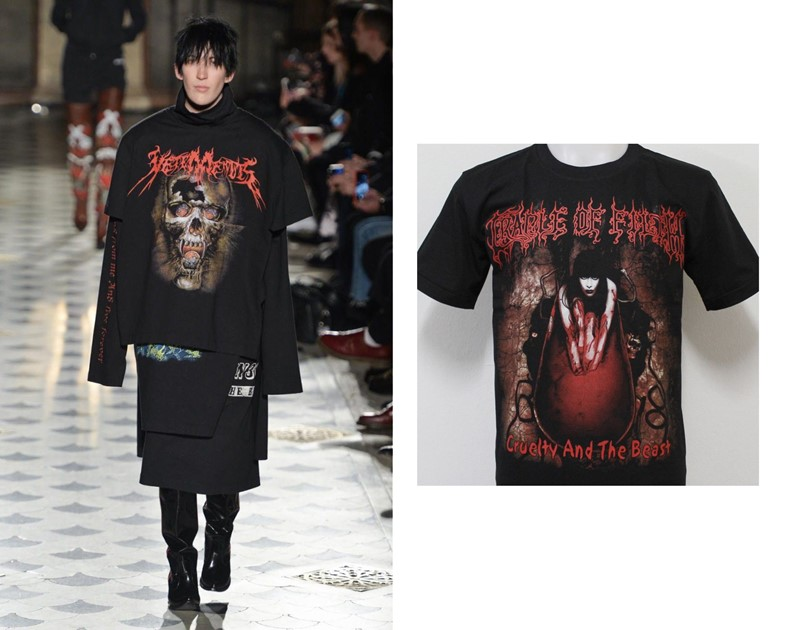 Vetements AW16 heavy metal tshirt