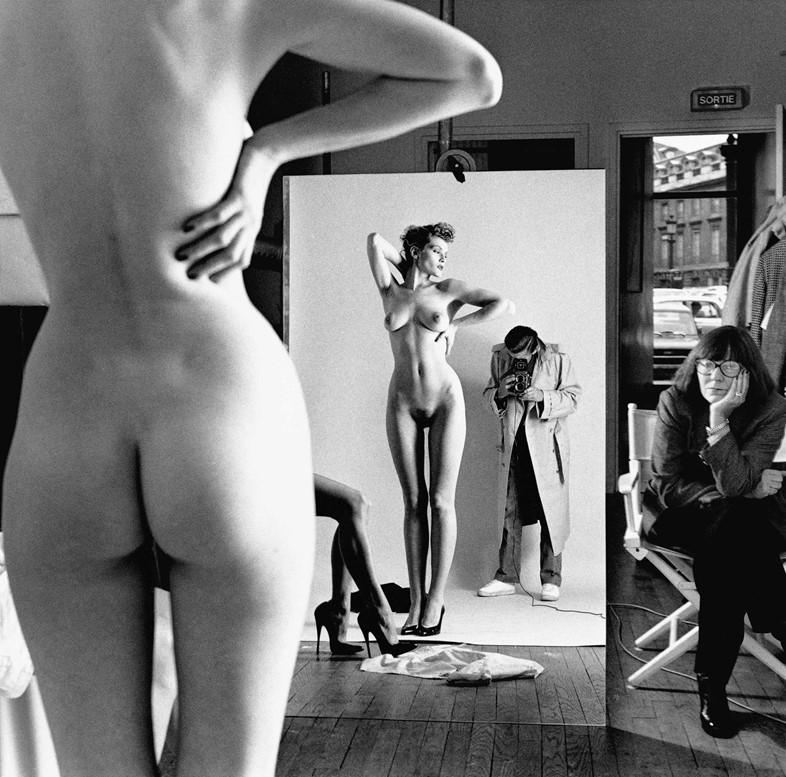 Self Portrait with Wife and Models, Vogue Studio, Paris 1981