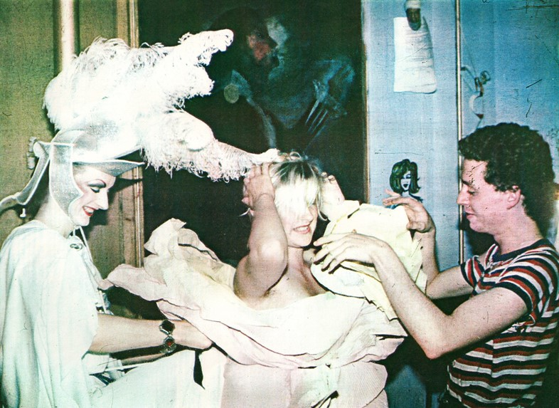 Neo Naturists, Paper Dress at the Embassy Club wit