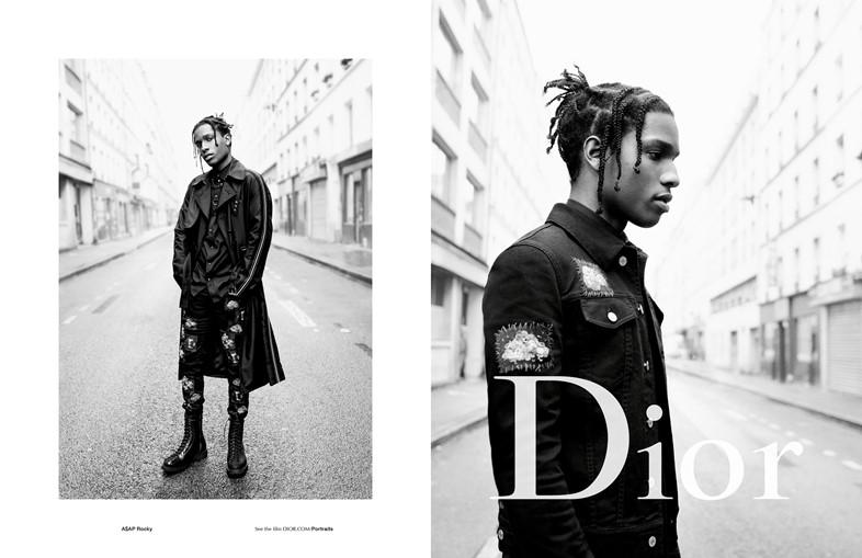 Dior Homme campaign A$AP Rocky Willy Vanderperre