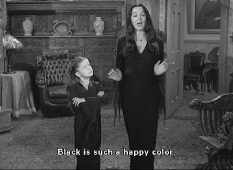 Black is such a happy colour