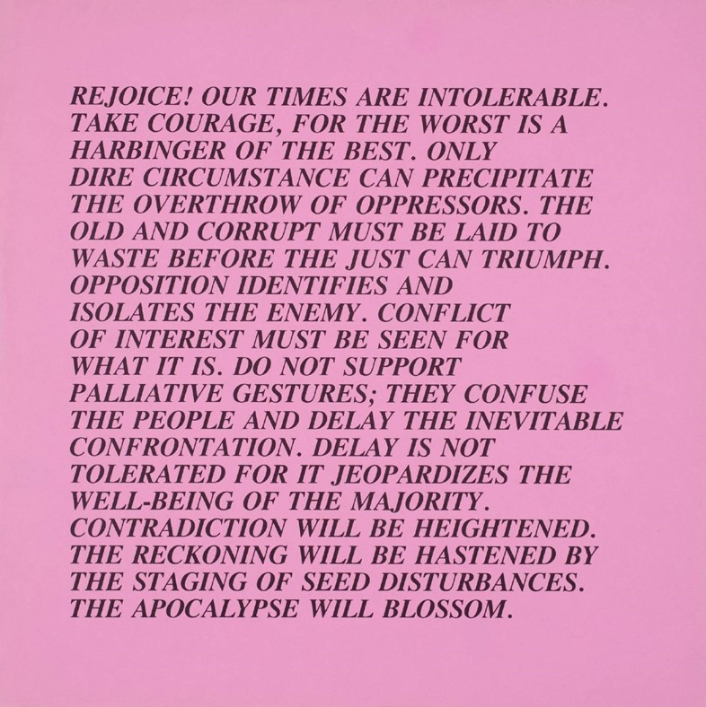 jenny holzer truism art graphic typography