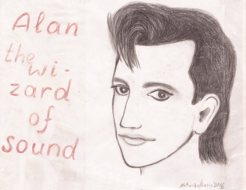 Alan Wilder drawing by Depeche Mode fan