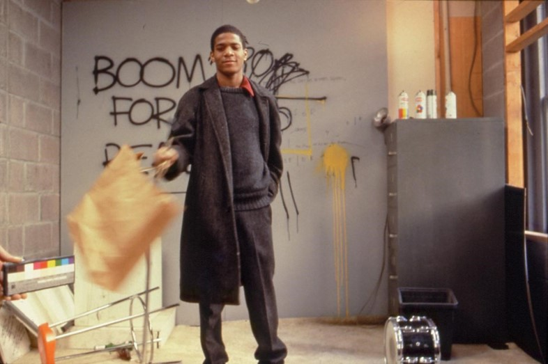 Jean-Michel Basquiat on set of Downtown 81
