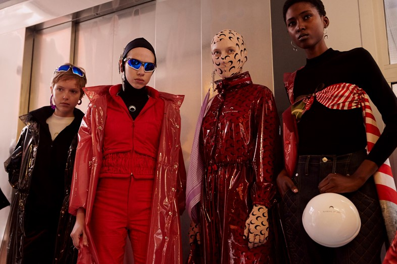 Marine Serre AW18 Paris fashion week backstage