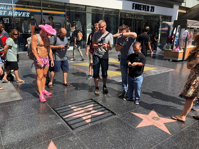 Donald Trump's Star behind Bars, Plastic Jesus