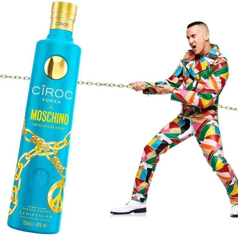 moschino ciroc jeremy scott collaboration golden barbie