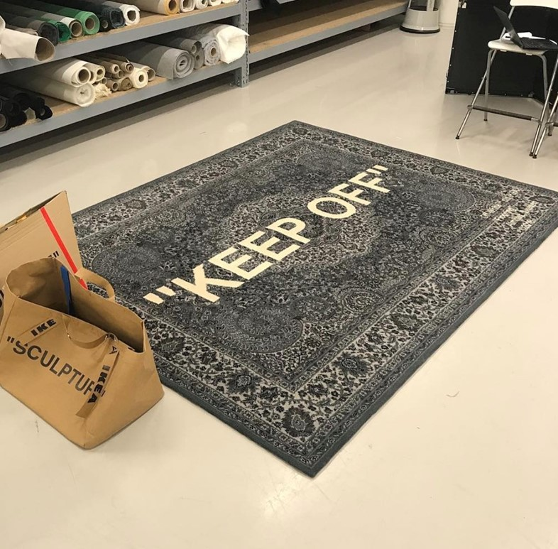 Ikea Keep Off Rug Off White: Virgil Abloh Teased His Ikea Collab At A Pop-up Store In