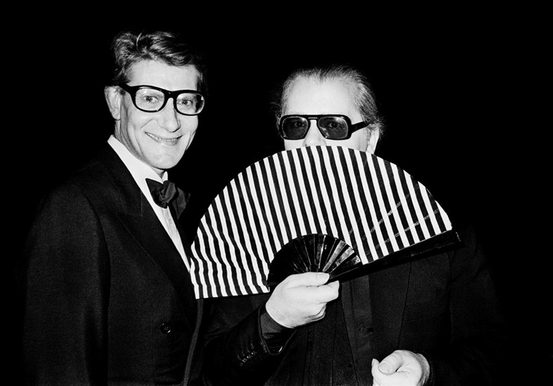 Yves Saint Laurent and Karl