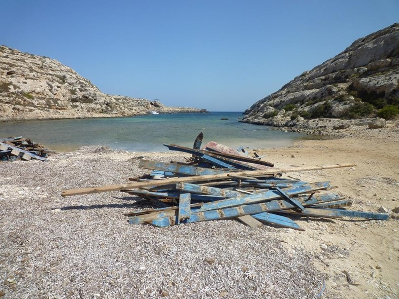 Bits of boats at Cala Galera