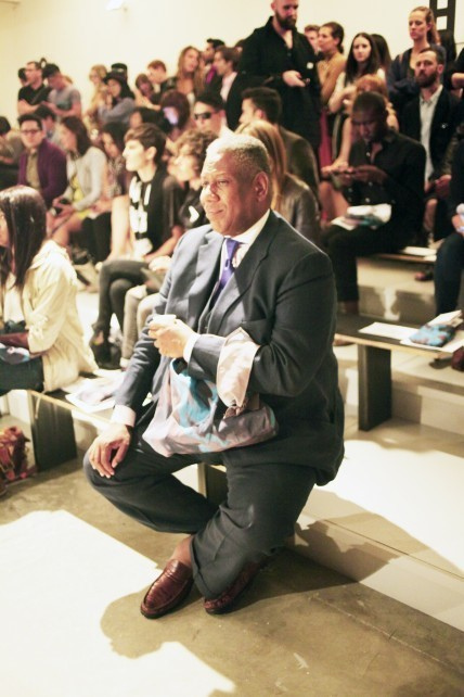 Andre Leon Talley at NYFW Kathrin-Thuy OTTO
