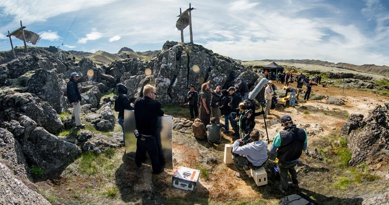 Darren Aronofsky filming on location in Iceland