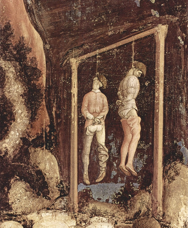 Hanged men, Pisanello, The Yorck Project