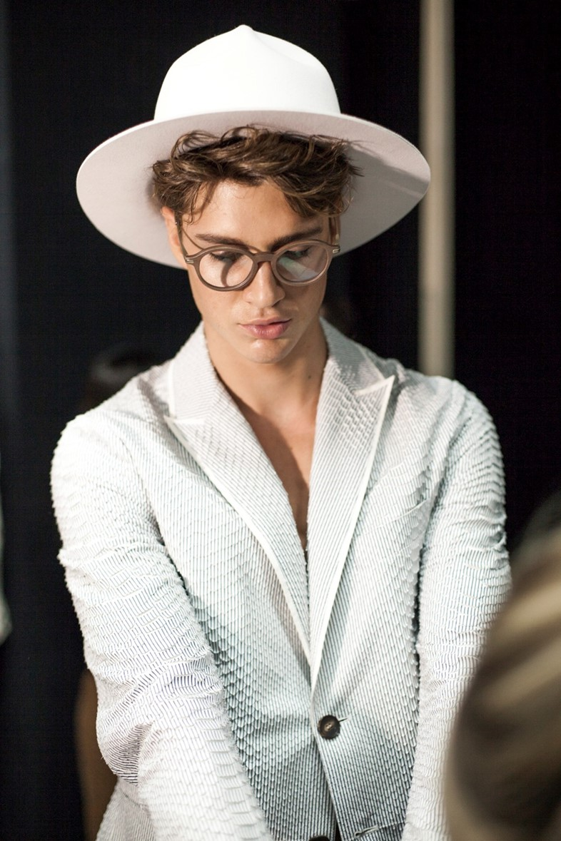 Giorgio Armani Mens collections, Dazed backstage