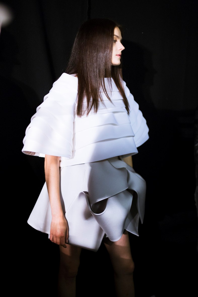 Dice Kayek AW14 Haute Couture Paris backstage Dazed