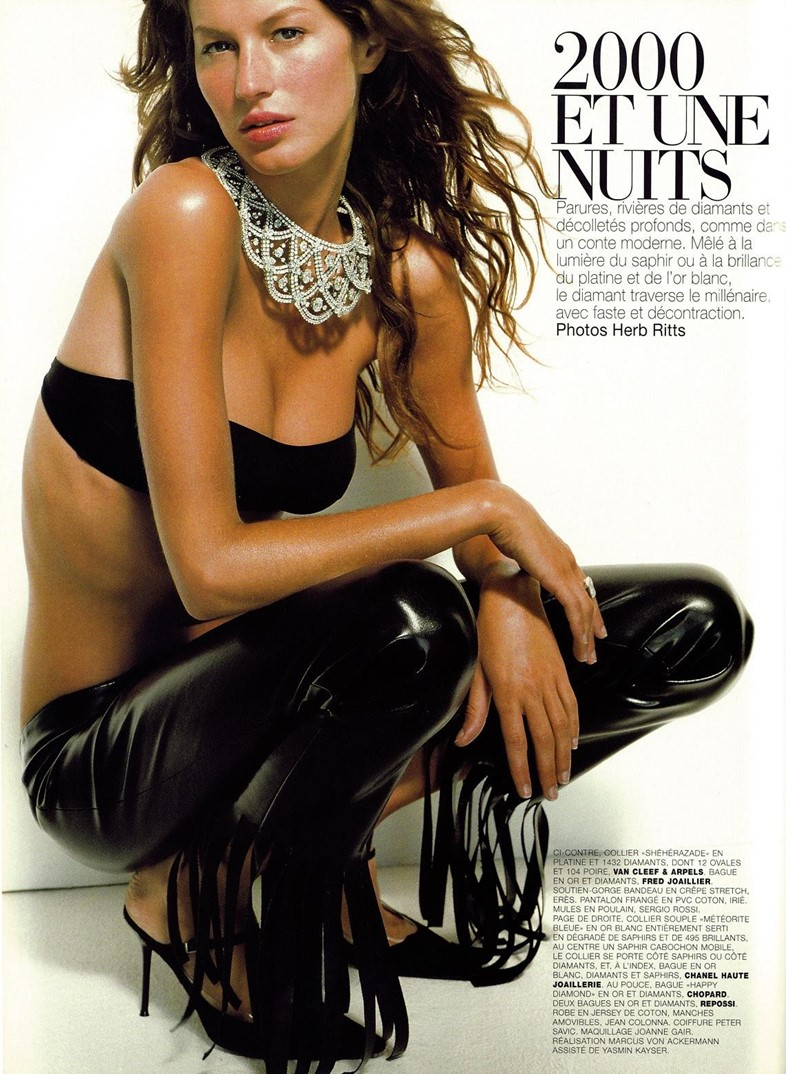 Gisele Bündchen in Vogue Paris, Dazed VFiles vaults