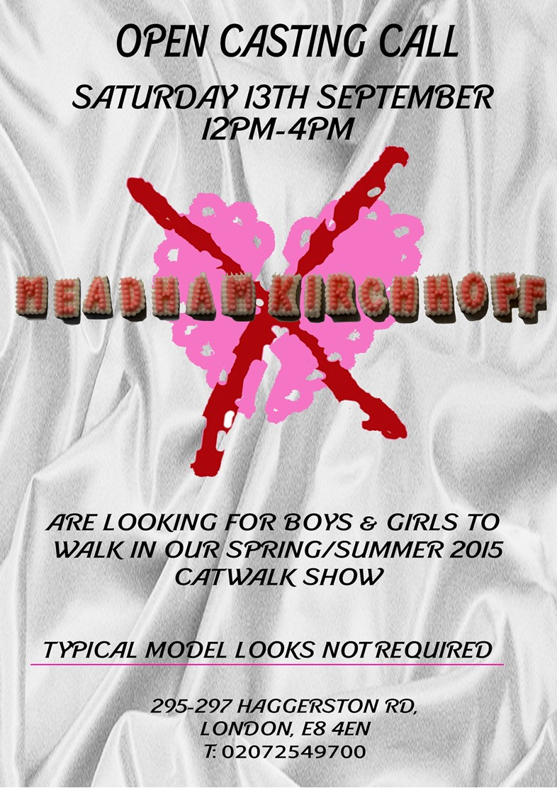 Meadham Kichhoff Open Casting Poster