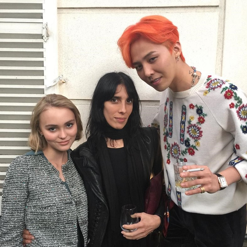 Lily Rose Depp, Jamie Bochert and G-Dragon