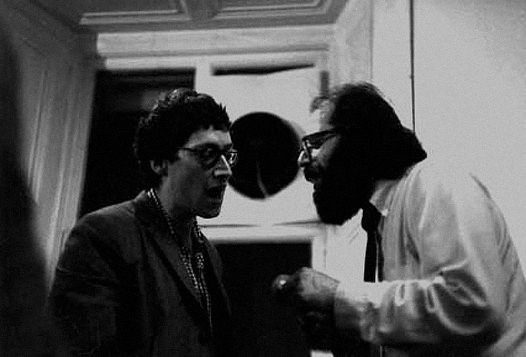 Michael Horovitz and Allen Ginsberg chanting at Th