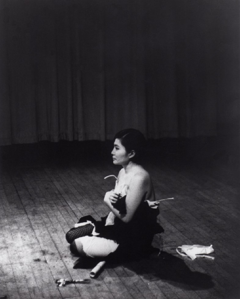 Yoko Ono 'Cut Piece', 1965. A film by Albert and D