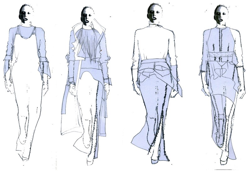 Masha Ma Womenswear A/W12 design sketches