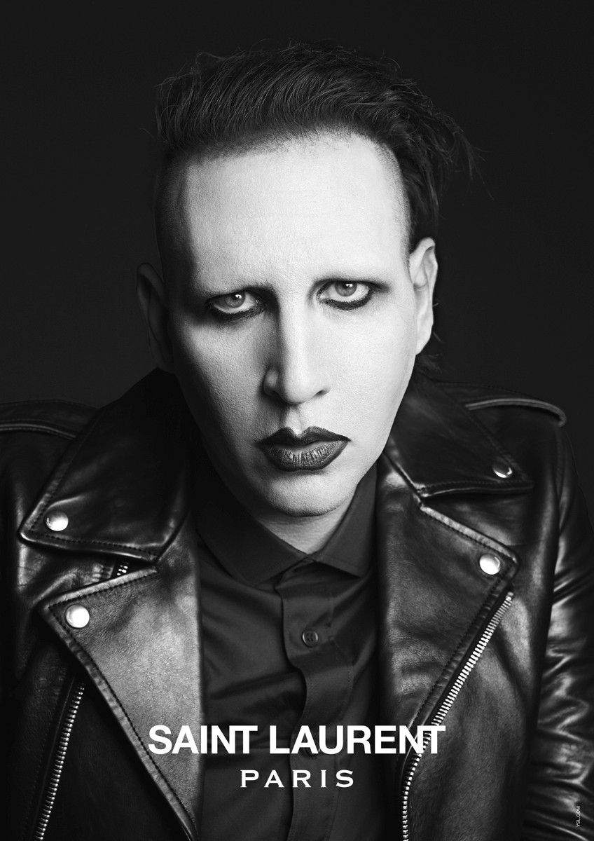 Marilyn Manson for Saint Laurent