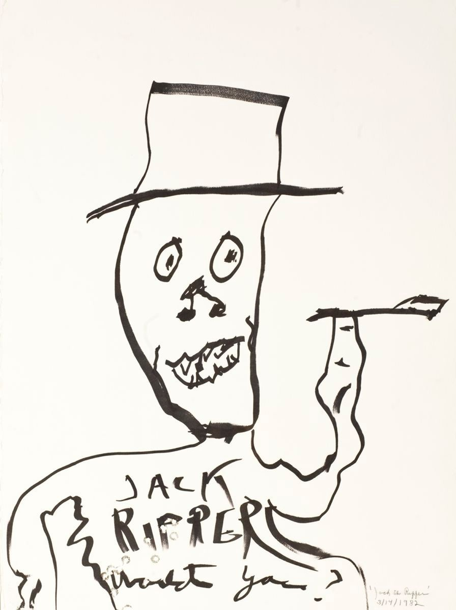 William S. Burroughs, Jack the Ripper, marker and