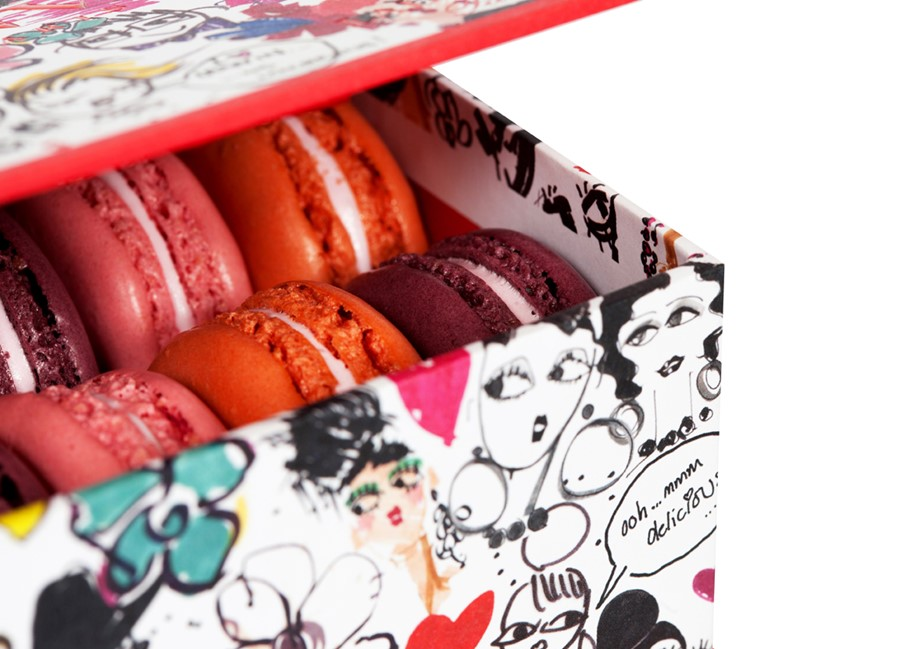 Lanvin boxed macaroons.