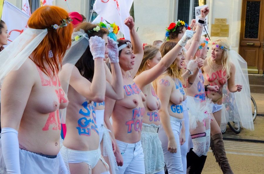 Femen gay marriage protest
