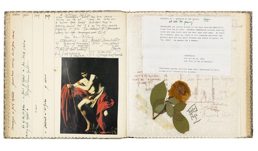 Pages from Derek Jarman's sketchbook