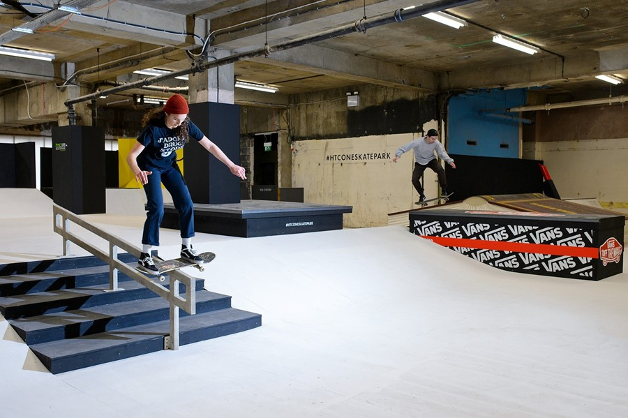 Htc one skatepark at selfridges dazed for Indoor skatepark design uk