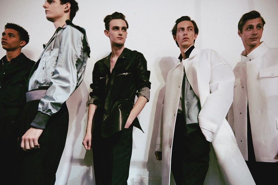 Lanvin SS15 Mens collections, Dazed backstage