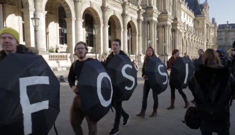 Activists arrested in the Louvre sneak a camera into jail