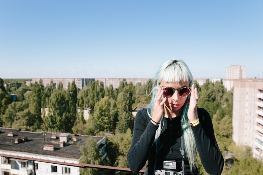 The girl taking drone selfies around the world