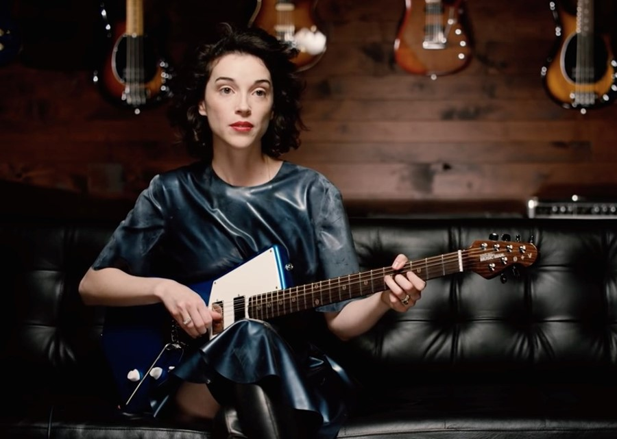 st vincent with guitar