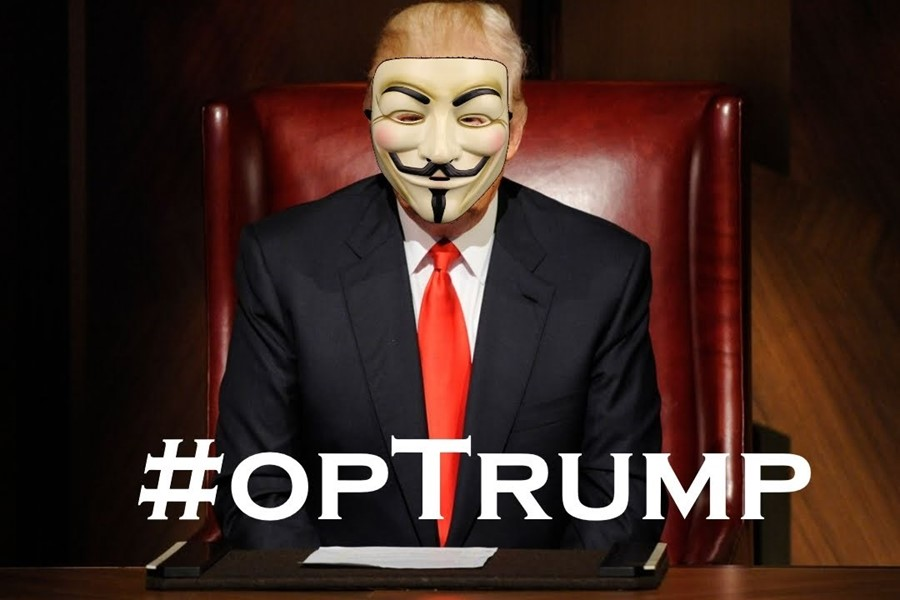 Anonymous declares war on Donald Trump