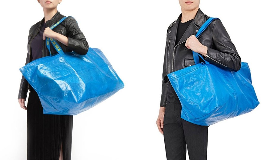 IKEA BALENCIAGA copy blue bag