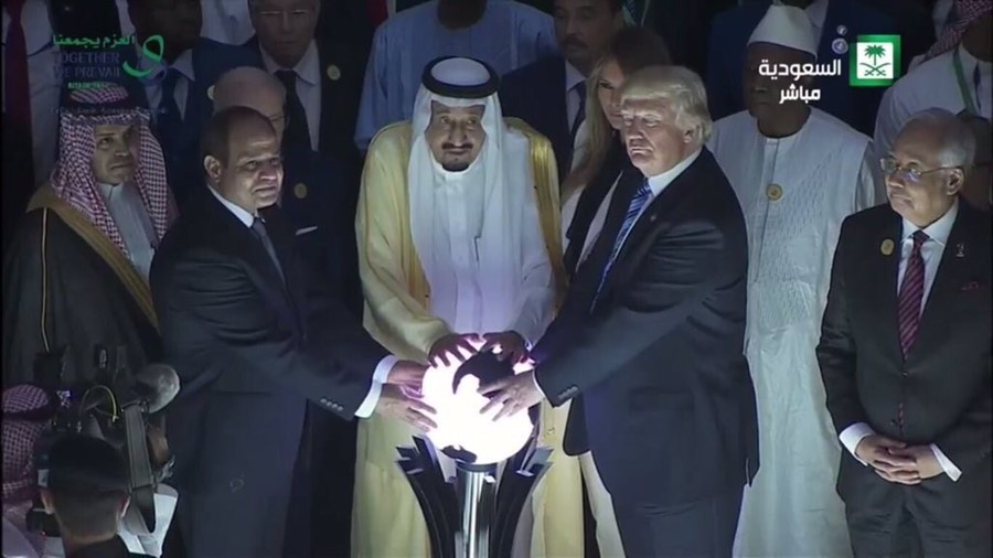 trump and the orb