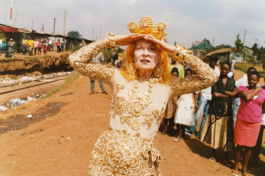 vivienne westwood campaign africa fashion crown