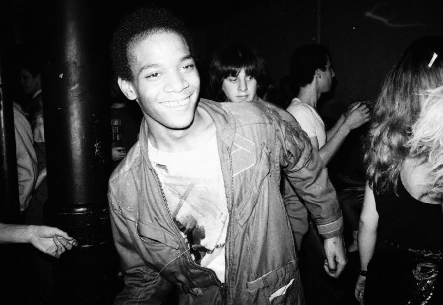 Jean Michel Basquiat dancing, photographed by Nich
