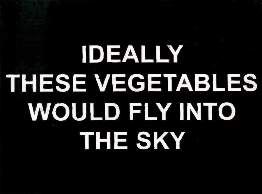 Laure Prouvost, Ideally these vegetables would fly