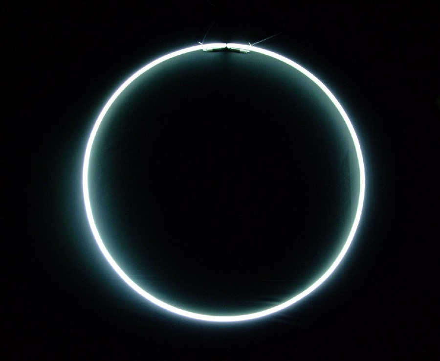 Shezad Dawood 'Black Sun', 2009, Wall mounted neon