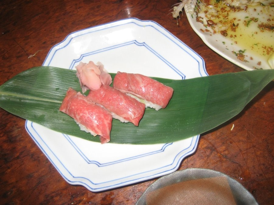 Still having nightmares about beef sushi