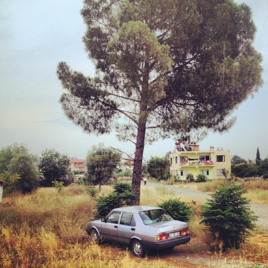 an abandoned car in Turkey