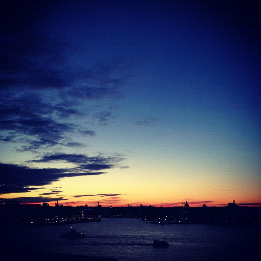 Sunset in Stockholm. Sometimes I am in love with t
